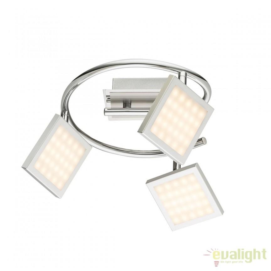 Plafoniera LED moderna Tombel 3L 56122-3 GL, Plafoniere LED, Spoturi LED, Corpuri de iluminat, lustre, aplice, veioze, lampadare, plafoniere. Mobilier si decoratiuni, oglinzi, scaune, fotolii. Oferte speciale iluminat interior si exterior. Livram in toata tara.  a