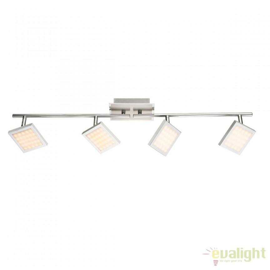 Plafoniera LED dimabila stil modern Tombel 4L 56122-4 GL, Plafoniere LED, Spoturi LED, Corpuri de iluminat, lustre, aplice, veioze, lampadare, plafoniere. Mobilier si decoratiuni, oglinzi, scaune, fotolii. Oferte speciale iluminat interior si exterior. Livram in toata tara.  a