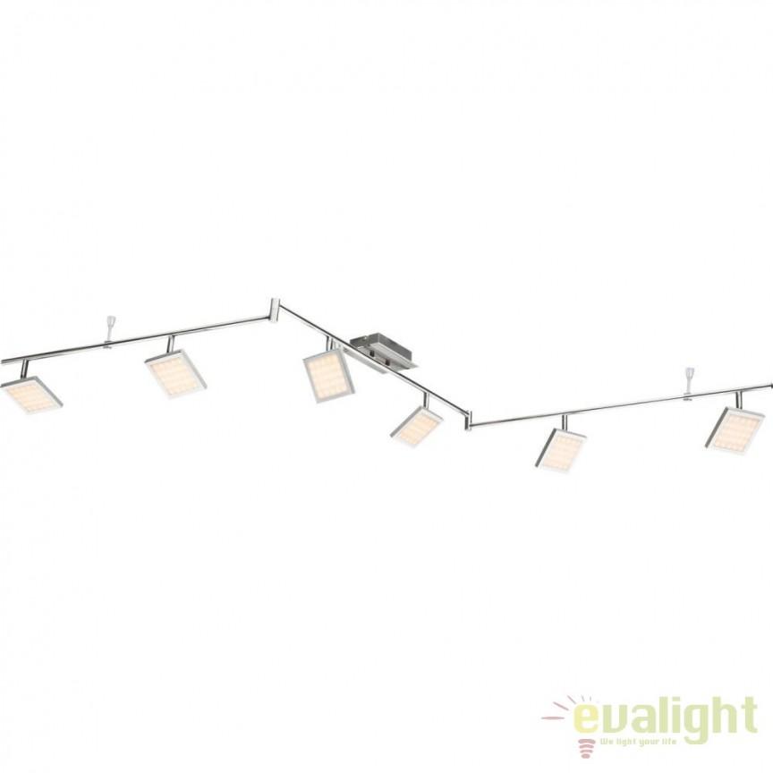 Plafoniera LED dimabila stil modern Tombel 6L 56122-6 GL, Spoturi - iluminat - cu 5 si 6 spoturi, Corpuri de iluminat, lustre, aplice, veioze, lampadare, plafoniere. Mobilier si decoratiuni, oglinzi, scaune, fotolii. Oferte speciale iluminat interior si exterior. Livram in toata tara.  a