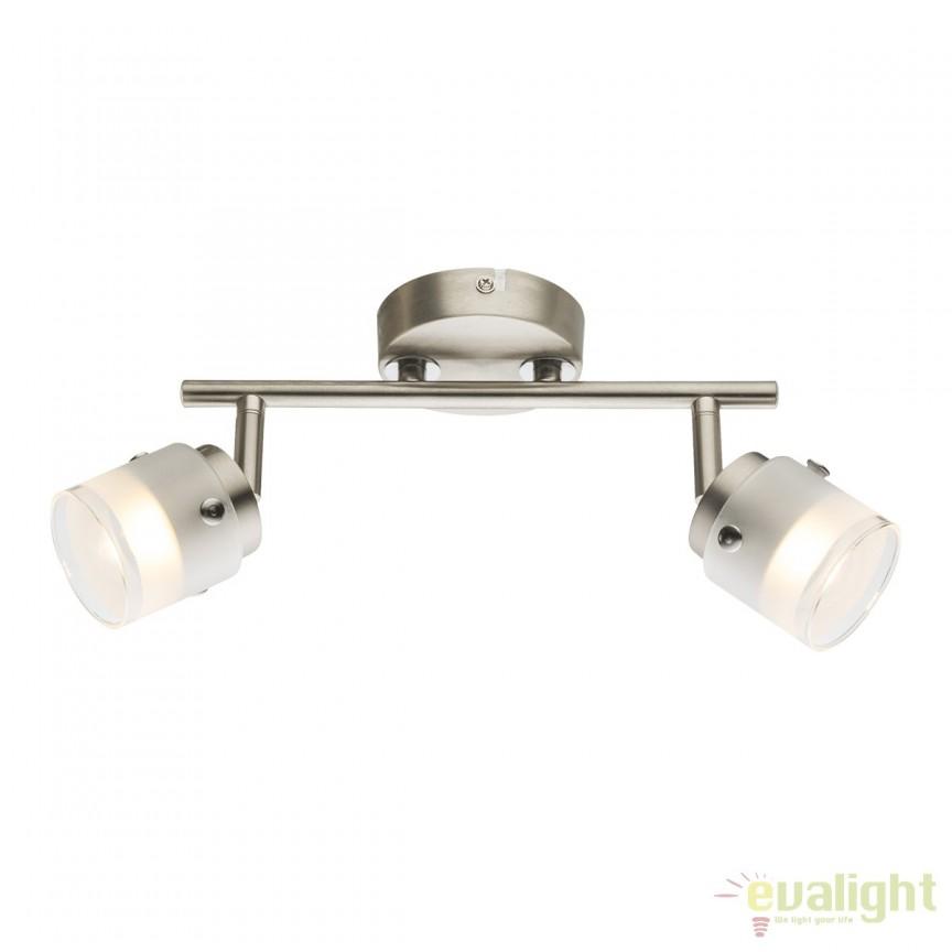 Plafoniera LED moderna Karthala 2L 56959-2 GL, Plafoniere LED, Spoturi LED, Corpuri de iluminat, lustre, aplice, veioze, lampadare, plafoniere. Mobilier si decoratiuni, oglinzi, scaune, fotolii. Oferte speciale iluminat interior si exterior. Livram in toata tara.  a