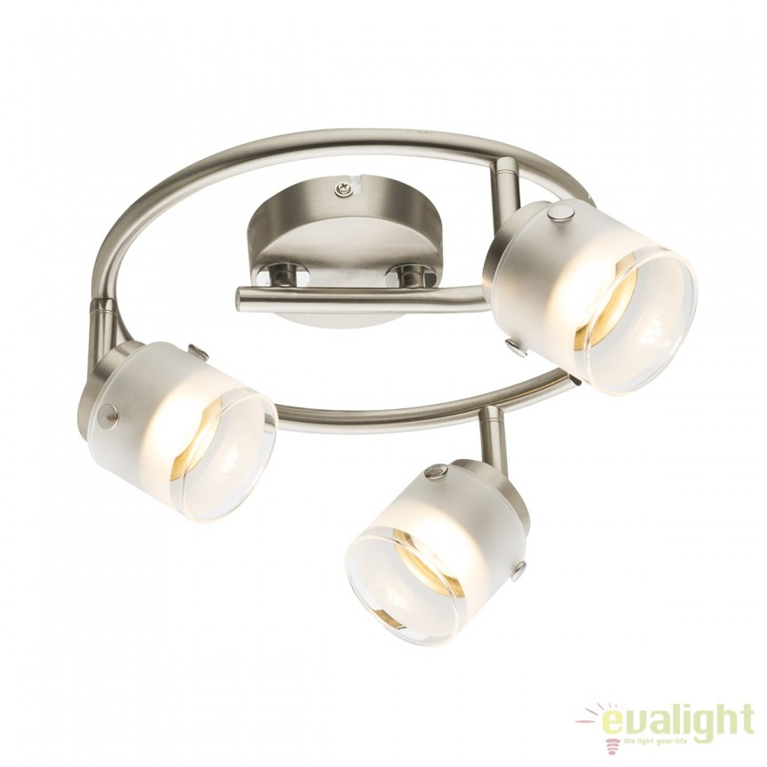 Plafoniera LED moderna Karthala 3L 56959-3 GL, ILUMINAT INTERIOR LED , Corpuri de iluminat, lustre, aplice, veioze, lampadare, plafoniere. Mobilier si decoratiuni, oglinzi, scaune, fotolii. Oferte speciale iluminat interior si exterior. Livram in toata tara.  a
