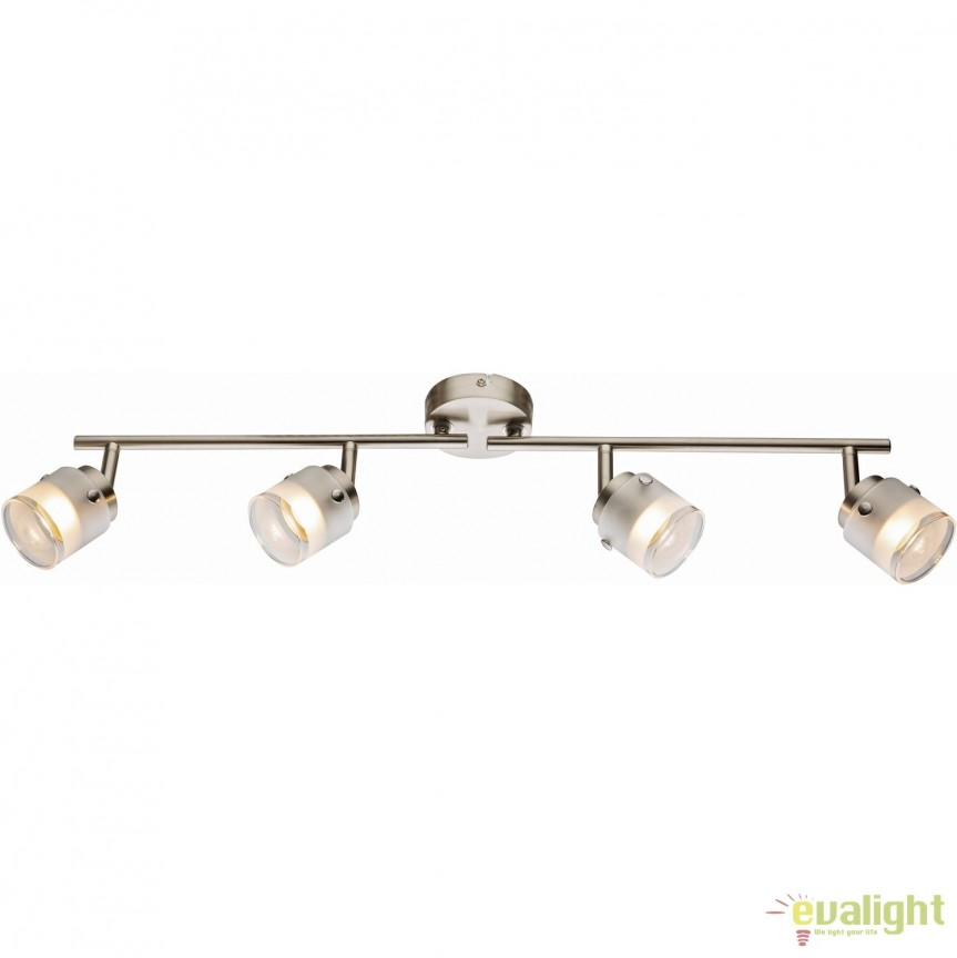 Plafoniera LED moderna Karthala 4L 56959-4 GL, ILUMINAT INTERIOR LED , Corpuri de iluminat, lustre, aplice, veioze, lampadare, plafoniere. Mobilier si decoratiuni, oglinzi, scaune, fotolii. Oferte speciale iluminat interior si exterior. Livram in toata tara.  a