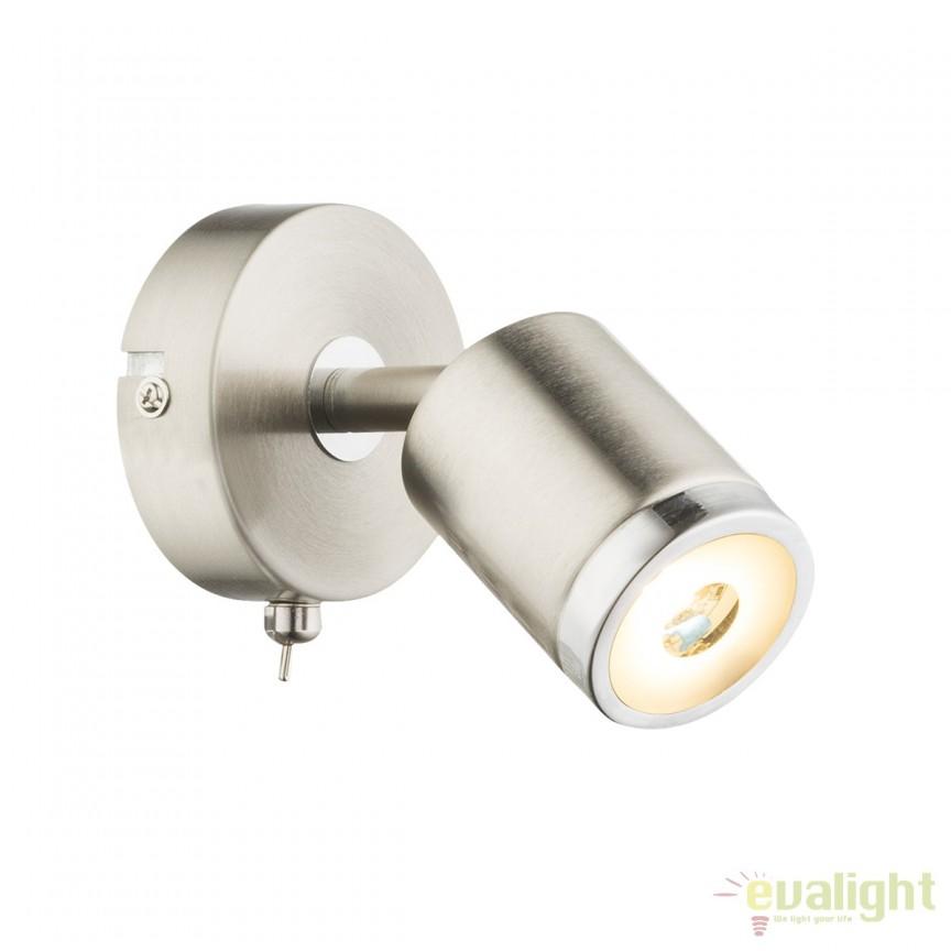 Aplica perete LED moderna Comore 56958-1 GL, ILUMINAT INTERIOR LED , Corpuri de iluminat, lustre, aplice, veioze, lampadare, plafoniere. Mobilier si decoratiuni, oglinzi, scaune, fotolii. Oferte speciale iluminat interior si exterior. Livram in toata tara.  a