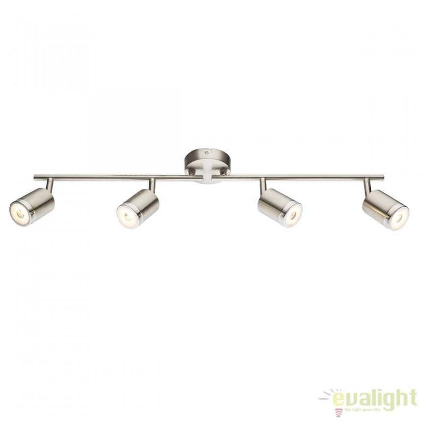 Plafoniera LED moderna Comore 4L 56958-4 GL, ILUMINAT INTERIOR LED , Corpuri de iluminat, lustre, aplice, veioze, lampadare, plafoniere. Mobilier si decoratiuni, oglinzi, scaune, fotolii. Oferte speciale iluminat interior si exterior. Livram in toata tara.  a