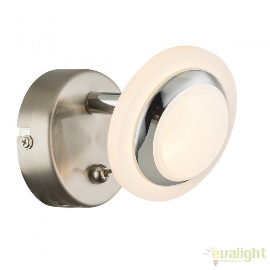 Aplica de perete LED moderna Fumarole 56125-1 GL, ILUMINAT INTERIOR LED , Corpuri de iluminat, lustre, aplice, veioze, lampadare, plafoniere. Mobilier si decoratiuni, oglinzi, scaune, fotolii. Oferte speciale iluminat interior si exterior. Livram in toata tara.  a