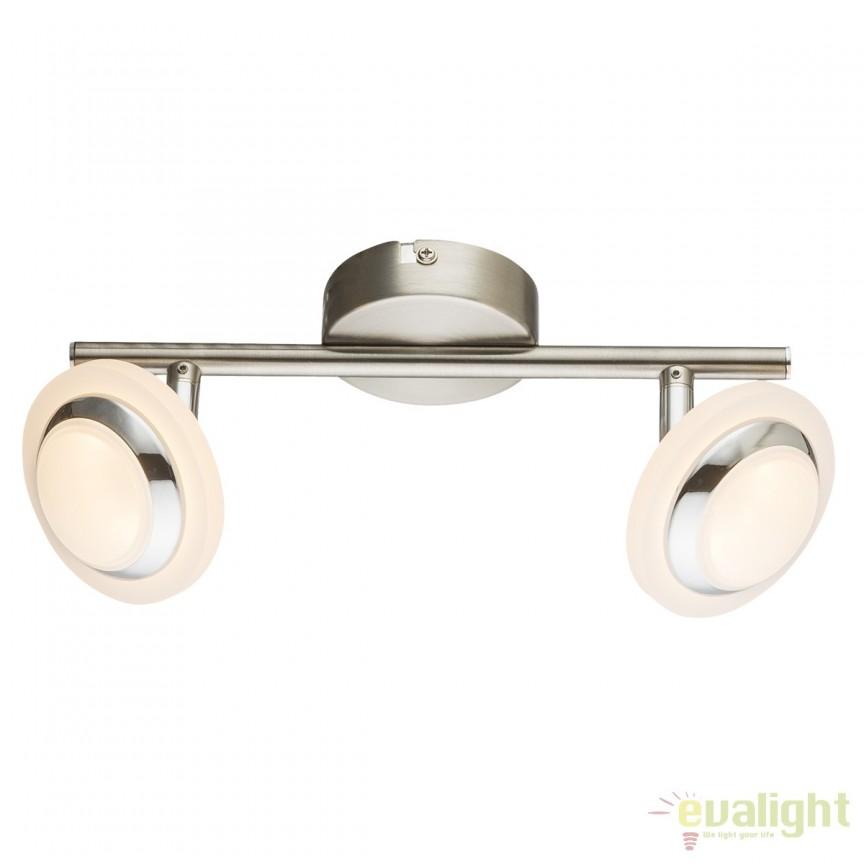Plafoniera LED moderna Fumarole 2L 56125-2 GL, ILUMINAT INTERIOR LED , Corpuri de iluminat, lustre, aplice, veioze, lampadare, plafoniere. Mobilier si decoratiuni, oglinzi, scaune, fotolii. Oferte speciale iluminat interior si exterior. Livram in toata tara.  a