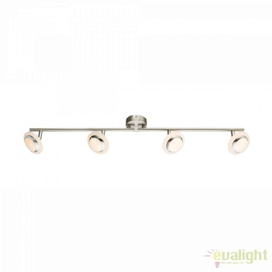 Plafoniera LED moderna Fumarole 4L 56125-4 GL, ILUMINAT INTERIOR LED , Corpuri de iluminat, lustre, aplice, veioze, lampadare, plafoniere. Mobilier si decoratiuni, oglinzi, scaune, fotolii. Oferte speciale iluminat interior si exterior. Livram in toata tara.  a