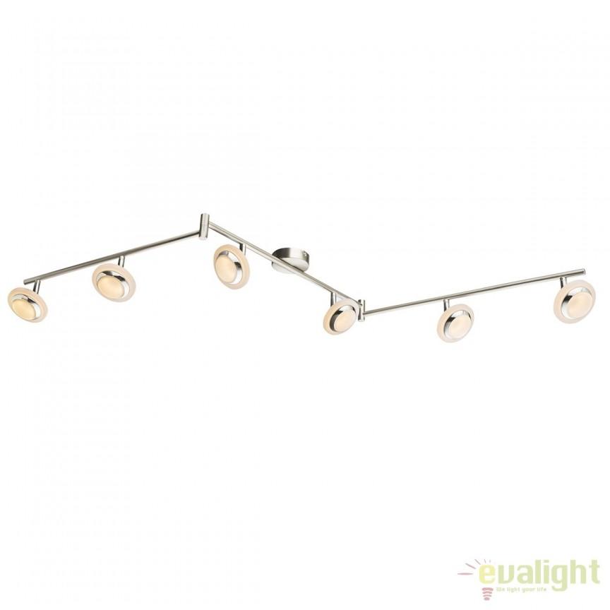 Plafoniera LED moderna Fumarole 6L 56125-6 GL, Spoturi - iluminat - cu 5 si 6 spoturi, Corpuri de iluminat, lustre, aplice, veioze, lampadare, plafoniere. Mobilier si decoratiuni, oglinzi, scaune, fotolii. Oferte speciale iluminat interior si exterior. Livram in toata tara.  a