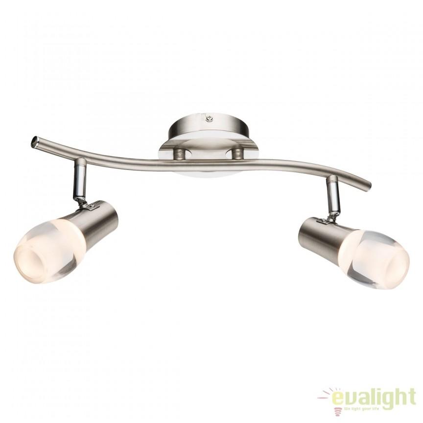 Plafoniera LED moderna Samui 2L 56552-2 GL, ILUMINAT INTERIOR LED , Corpuri de iluminat, lustre, aplice, veioze, lampadare, plafoniere. Mobilier si decoratiuni, oglinzi, scaune, fotolii. Oferte speciale iluminat interior si exterior. Livram in toata tara.  a