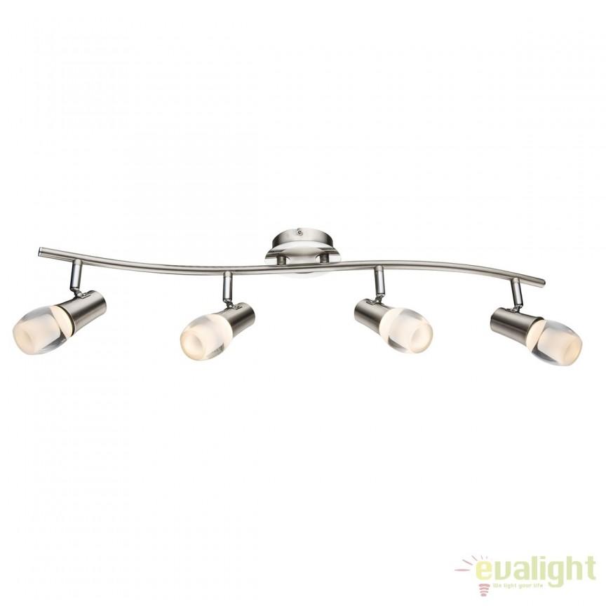 Plafoniera LED moderna Samui 34L 56552-4 GL, ILUMINAT INTERIOR LED , Corpuri de iluminat, lustre, aplice, veioze, lampadare, plafoniere. Mobilier si decoratiuni, oglinzi, scaune, fotolii. Oferte speciale iluminat interior si exterior. Livram in toata tara.  a