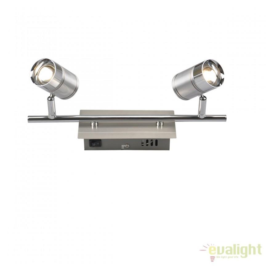 Aplica LED de perete/tavan stil modern Marja 2L 56957-2 GL, ILUMINAT INTERIOR LED , Corpuri de iluminat, lustre, aplice, veioze, lampadare, plafoniere. Mobilier si decoratiuni, oglinzi, scaune, fotolii. Oferte speciale iluminat interior si exterior. Livram in toata tara.  a