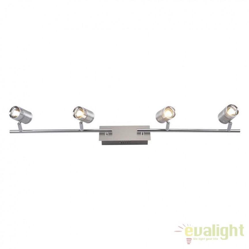 Plafoniera LED moderna Marja 4L 56957-4 GL, ILUMINAT INTERIOR LED , Corpuri de iluminat, lustre, aplice, veioze, lampadare, plafoniere. Mobilier si decoratiuni, oglinzi, scaune, fotolii. Oferte speciale iluminat interior si exterior. Livram in toata tara.  a