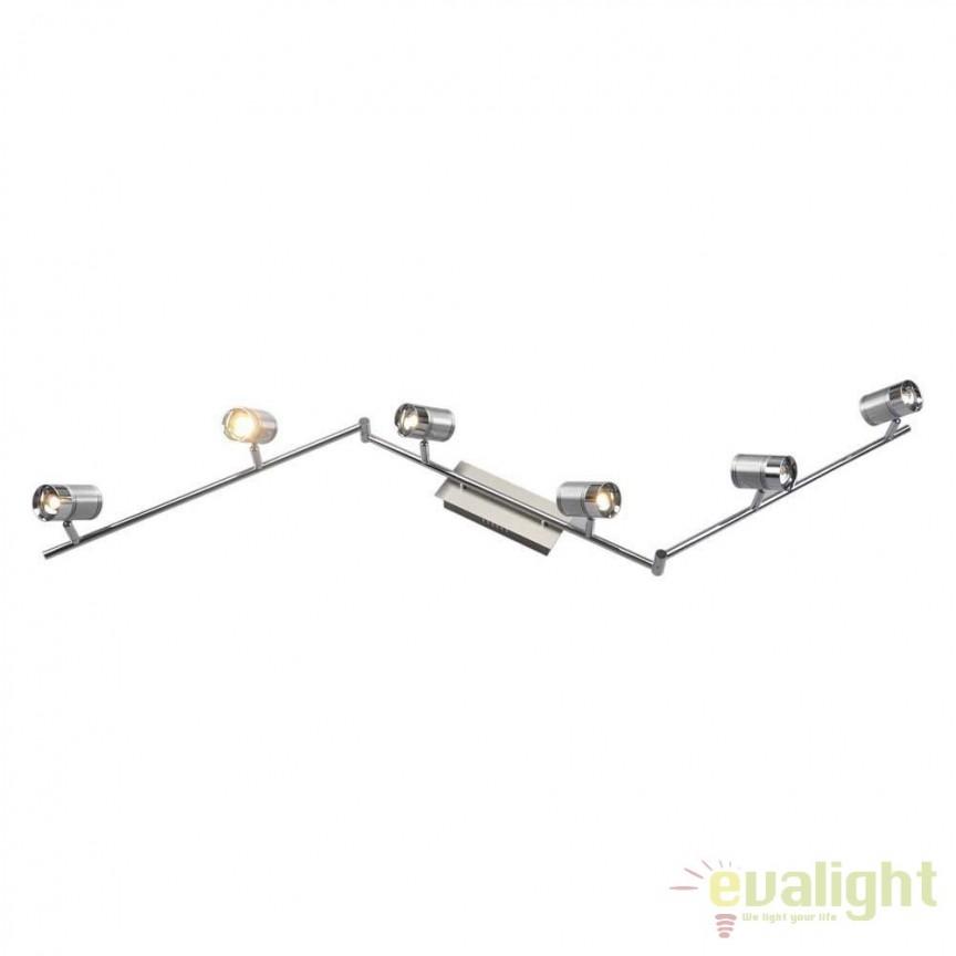 Plafoniera LED moderna Marja 6L 56957-6 GL, Spoturi - iluminat - cu 5 si 6 spoturi, Corpuri de iluminat, lustre, aplice, veioze, lampadare, plafoniere. Mobilier si decoratiuni, oglinzi, scaune, fotolii. Oferte speciale iluminat interior si exterior. Livram in toata tara.  a