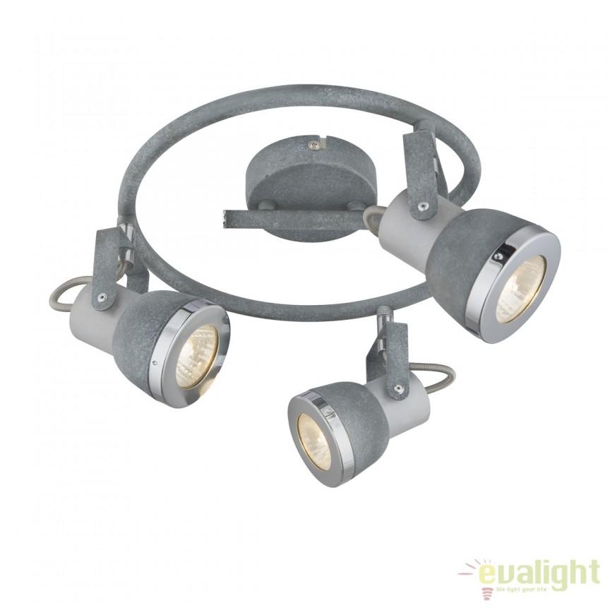 Plafoniera cu 3 spoturi Sabinyo 3L 57000-3 GL, Spoturi - iluminat - cu 3 spoturi, Corpuri de iluminat, lustre, aplice, veioze, lampadare, plafoniere. Mobilier si decoratiuni, oglinzi, scaune, fotolii. Oferte speciale iluminat interior si exterior. Livram in toata tara.  a