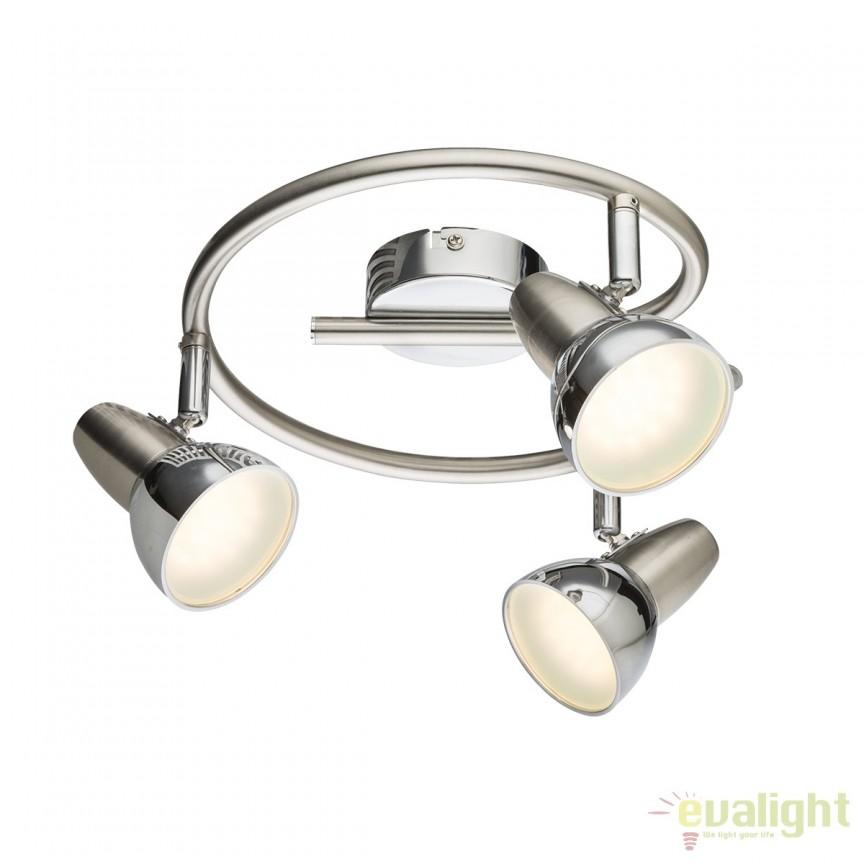 Plafoniera LED design modern Cappuccino 3L 56116-3 GL, ILUMINAT INTERIOR LED , Corpuri de iluminat, lustre, aplice, veioze, lampadare, plafoniere. Mobilier si decoratiuni, oglinzi, scaune, fotolii. Oferte speciale iluminat interior si exterior. Livram in toata tara.  a