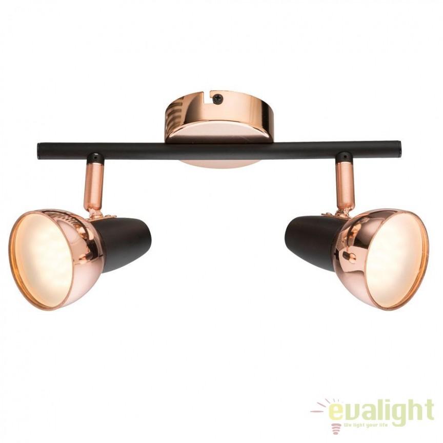 Plafoniera LED design modern Tobi 2L 56117-2 GL, ILUMINAT INTERIOR LED , Corpuri de iluminat, lustre, aplice, veioze, lampadare, plafoniere. Mobilier si decoratiuni, oglinzi, scaune, fotolii. Oferte speciale iluminat interior si exterior. Livram in toata tara.  a