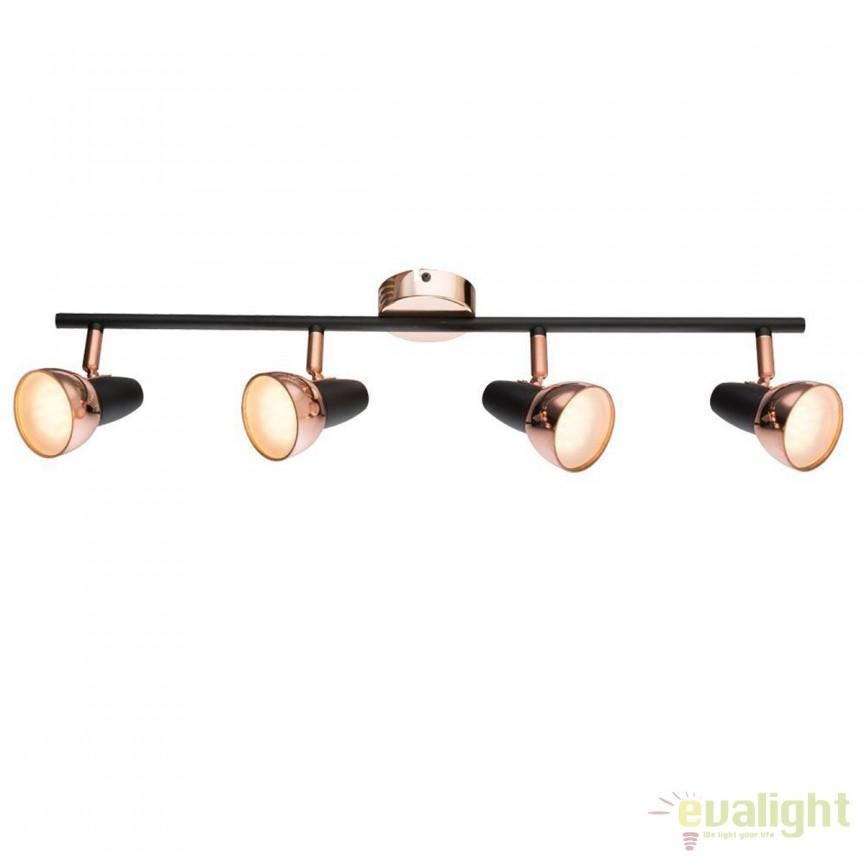 Plafoniera LED design modern Tobi 4L 56117-4 GL, ILUMINAT INTERIOR LED , Corpuri de iluminat, lustre, aplice, veioze, lampadare, plafoniere. Mobilier si decoratiuni, oglinzi, scaune, fotolii. Oferte speciale iluminat interior si exterior. Livram in toata tara.  a