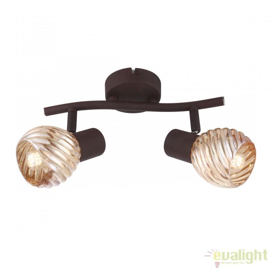 Plafoniera Becky 2L 54644-2O GL, Plafoniere, Spots, Corpuri de iluminat, lustre, aplice, veioze, lampadare, plafoniere. Mobilier si decoratiuni, oglinzi, scaune, fotolii. Oferte speciale iluminat interior si exterior. Livram in toata tara.  a