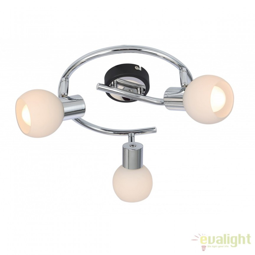 Plafoniera moderna Visoke 3L 541013-3 GL, Spoturi - iluminat - cu 3 spoturi, Corpuri de iluminat, lustre, aplice, veioze, lampadare, plafoniere. Mobilier si decoratiuni, oglinzi, scaune, fotolii. Oferte speciale iluminat interior si exterior. Livram in toata tara.  a