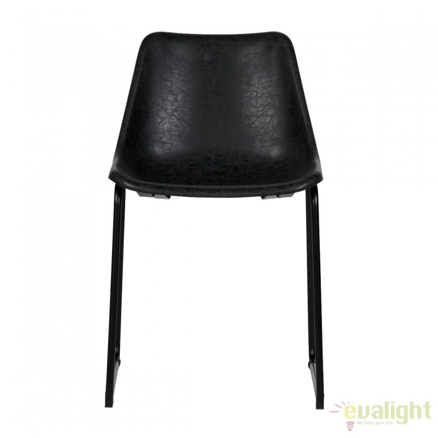 Set de 2 scaune din metal negru si piele sintetica Jet, negru 375459-Z EEH , Seturi scaune dining, scaune HoReCa, Corpuri de iluminat, lustre, aplice, veioze, lampadare, plafoniere. Mobilier si decoratiuni, oglinzi, scaune, fotolii. Oferte speciale iluminat interior si exterior. Livram in toata tara.  a