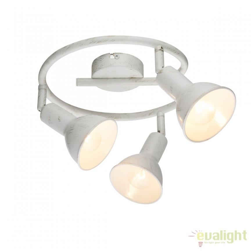 Plafoniera Caldera 3L 54648-3 GL, Spoturi - iluminat - cu 3 spoturi, Corpuri de iluminat, lustre, aplice, veioze, lampadare, plafoniere. Mobilier si decoratiuni, oglinzi, scaune, fotolii. Oferte speciale iluminat interior si exterior. Livram in toata tara.  a