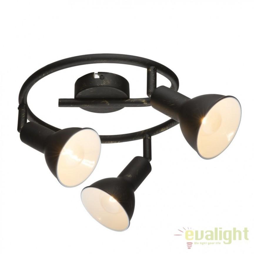 Plafoniera Namus 3L 54649-3 GL, Spoturi - iluminat - cu 3 spoturi, Corpuri de iluminat, lustre, aplice, veioze, lampadare, plafoniere. Mobilier si decoratiuni, oglinzi, scaune, fotolii. Oferte speciale iluminat interior si exterior. Livram in toata tara.  a
