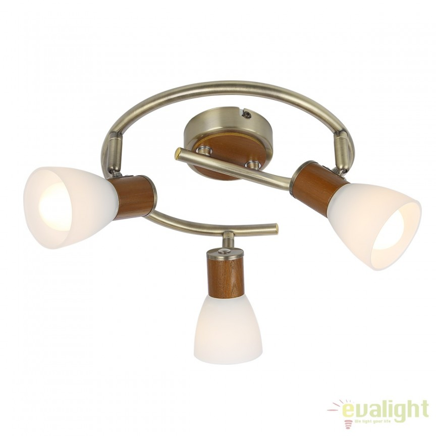 Plafoniera Itasy 3L 54353-3 GL, Spoturi - iluminat - cu 3 spoturi, Corpuri de iluminat, lustre, aplice, veioze, lampadare, plafoniere. Mobilier si decoratiuni, oglinzi, scaune, fotolii. Oferte speciale iluminat interior si exterior. Livram in toata tara.  a