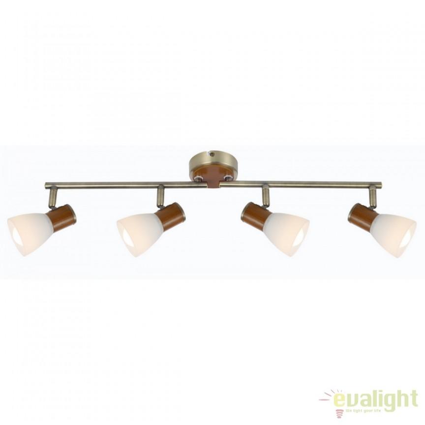 Plafoniera Itasy 4L 54353-4 GL, Spoturi - iluminat - cu 4 spoturi, Corpuri de iluminat, lustre, aplice, veioze, lampadare, plafoniere. Mobilier si decoratiuni, oglinzi, scaune, fotolii. Oferte speciale iluminat interior si exterior. Livram in toata tara.  a
