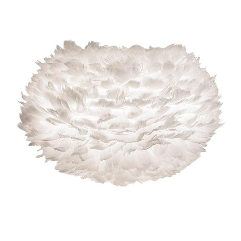 Abajur modern cu pene de gasca EOS alb, 35cm, Outlet,  a