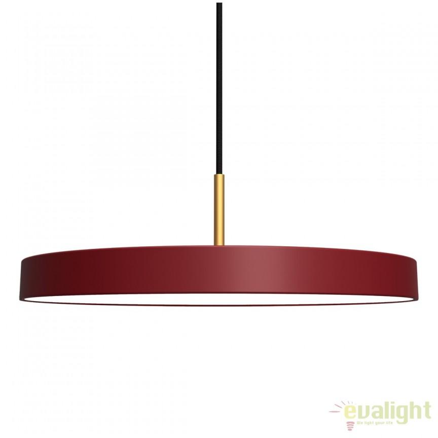 Lustra LED design scandinav diametru 43cm Asteria, rosu rubiniu 2155 VTC, PROMOTII, Corpuri de iluminat, lustre, aplice, veioze, lampadare, plafoniere. Mobilier si decoratiuni, oglinzi, scaune, fotolii. Oferte speciale iluminat interior si exterior. Livram in toata tara.  a