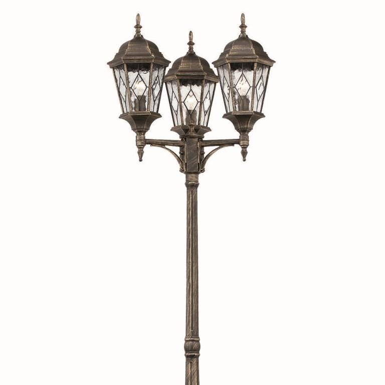 Stalp exterior IP43 inaltime 238cm VALLE PT3, Stalpi de iluminat exterior mari, Corpuri de iluminat, lustre, aplice, veioze, lampadare, plafoniere. Mobilier si decoratiuni, oglinzi, scaune, fotolii. Oferte speciale iluminat interior si exterior. Livram in toata tara.  a
