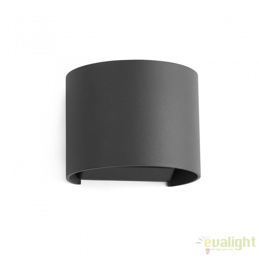 Aplica de perete LED exterior IP54 stil decorativ SUNSET neagra 70687, Promotii si Reduceri⭐ Oferte ✅Corpuri de iluminat ✅Lustre ✅Mobila ✅Decoratiuni de interior si exterior.⭕Pret redus online➜Lichidari de stoc❗ Magazin ➽ www.evalight.ro. a