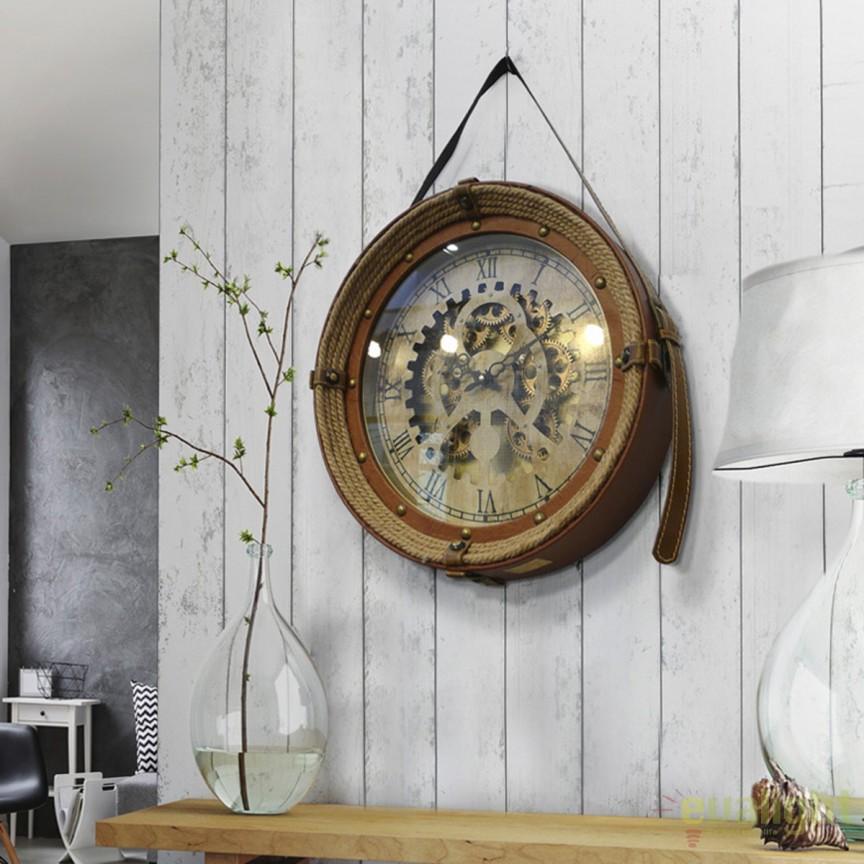 Ceas de perete decorativ design vintage Canfranc Ø47 SV-319527, Ceasuri de perete decorative, Corpuri de iluminat, lustre, aplice, veioze, lampadare, plafoniere. Mobilier si decoratiuni, oglinzi, scaune, fotolii. Oferte speciale iluminat interior si exterior. Livram in toata tara.  a
