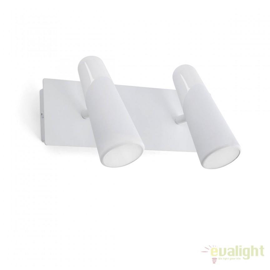 Aplica perete LED moderna cu 2 spoturi LAO alb 29042, Aplice de perete LED, moderne⭐ modele potrivite pentru dormitor, living, baie, hol, bucatarie.✅DeSiGn LED decorativ 2021!❤️Promotii lampi❗ ➽ www.evalight.ro. Alege oferte NOI corpuri de iluminat cu LED pt interior, elegante din cristal (becuri cu leduri si module LED integrate cu lumina calda, naturala sau rece), ieftine si de lux, calitate deosebita la cel mai bun pret.  a