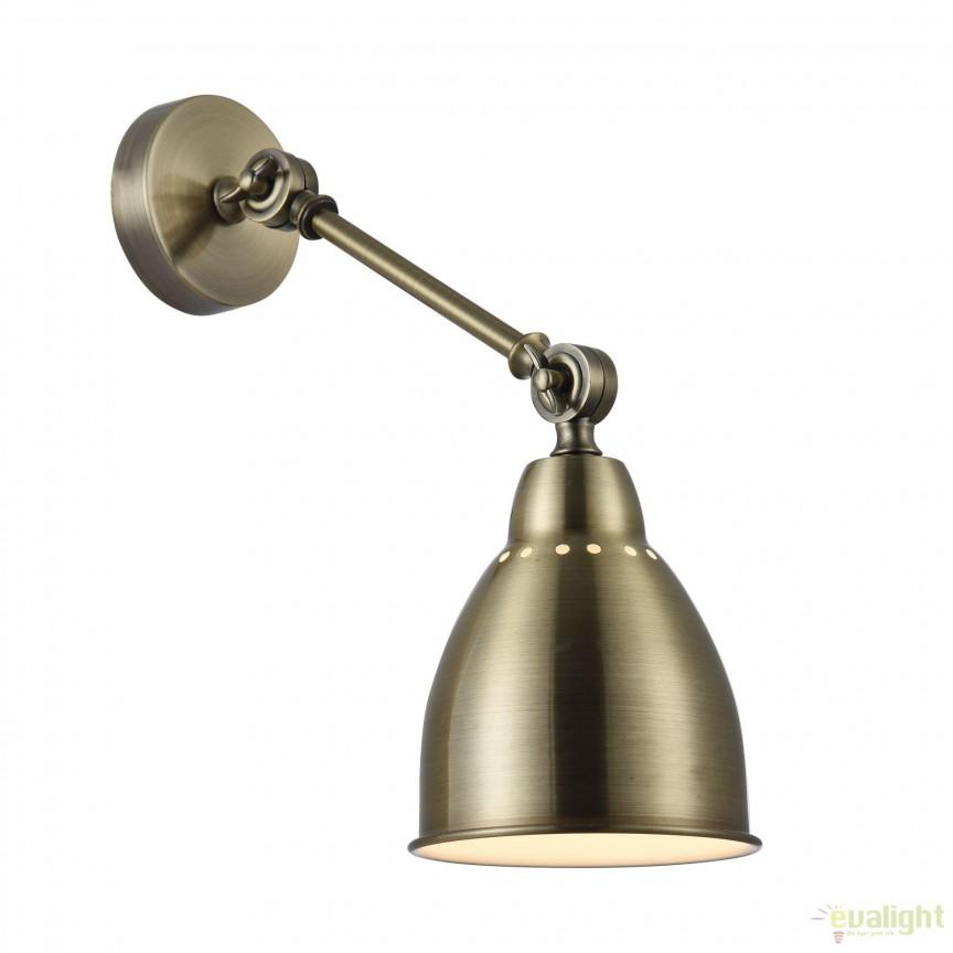Aplica cu brat articulat Domino, alama MYMOD142-WL-01-BS, Aplice aplicate perete sau tavan cu spot, LED⭐ modele moderne corpuri de iluminat tip spot-uri pe bara.✅Design decorativ 2021!❤️Promotii lampi❗ ➽ www.evalight.ro. Alege oferte aplice de iluminat interior, lustre si plafoniere cu 1 spot cu lumina LED si directie reglabila, spot orientabil cu intrerupator, simple si ieftine de calitate la cel mai bun pret. a