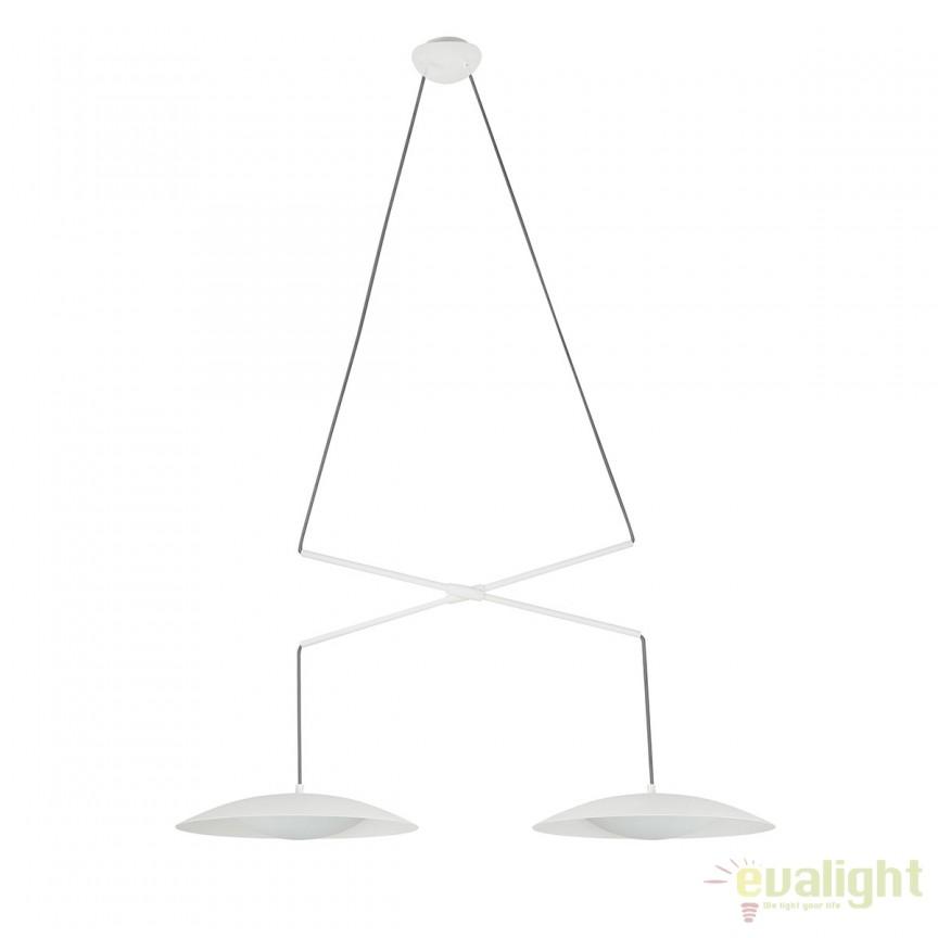 Lustra LED extensibila design modern SLIM alba 24504 , Promotii si Reduceri⭐ Oferte ✅Corpuri de iluminat ✅Lustre ✅Mobila ✅Decoratiuni de interior si exterior.⭕Pret redus online➜Lichidari de stoc❗ Magazin ➽ www.evalight.ro. a