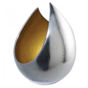 Vas decorativ din metal finisaj lucios EH-IZARRA-S Small EN, Vaze, Ghivece decorative, Corpuri de iluminat, lustre, aplice, veioze, lampadare, plafoniere. Mobilier si decoratiuni, oglinzi, scaune, fotolii. Oferte speciale iluminat interior si exterior. Livram in toata tara.  a