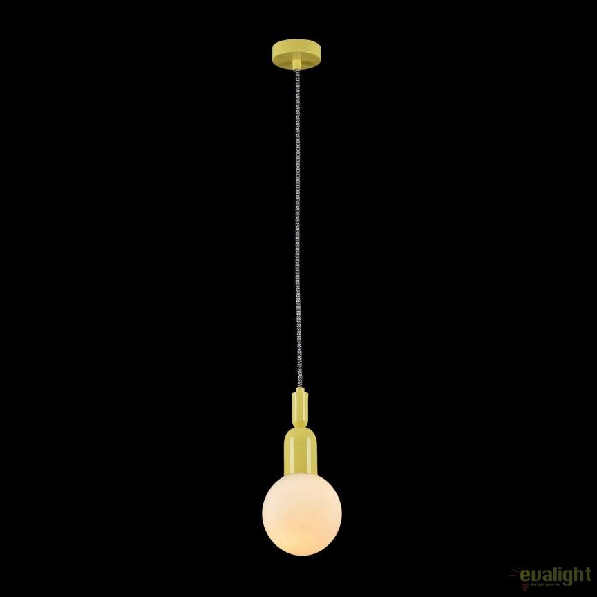 Pendul modern Ball, galben MYMOD267-PL-01-YW, Promotii si Reduceri⭐ Oferte ✅Corpuri de iluminat ✅Lustre ✅Mobila ✅Decoratiuni de interior si exterior.⭕Pret redus online➜Lichidari de stoc❗ Magazin ➽ www.evalight.ro. a