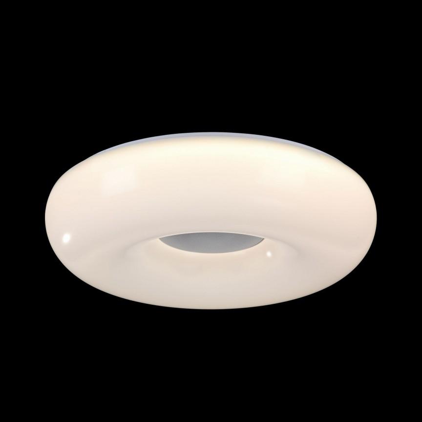 Lustra aplicata cu iluminat LED, telecomanda si speaker, Music 60 MYMOD362-CL-01-60W-W, Lampi LED si Telecomanda, Corpuri de iluminat, lustre, aplice, veioze, lampadare, plafoniere. Mobilier si decoratiuni, oglinzi, scaune, fotolii. Oferte speciale iluminat interior si exterior. Livram in toata tara.  a