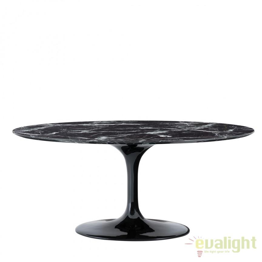Masa design LUX Solo Oval 170x110cm, negru 112051 HZ, Mese dining, Corpuri de iluminat, lustre, aplice, veioze, lampadare, plafoniere. Mobilier si decoratiuni, oglinzi, scaune, fotolii. Oferte speciale iluminat interior si exterior. Livram in toata tara.  a