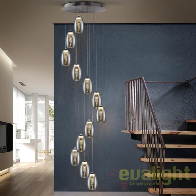 Lustra LED casa scarii design modern cu 12 pendule Nebula SV-584541, Lustre casa scarii, Corpuri de iluminat, lustre, aplice, veioze, lampadare, plafoniere. Mobilier si decoratiuni, oglinzi, scaune, fotolii. Oferte speciale iluminat interior si exterior. Livram in toata tara.  a