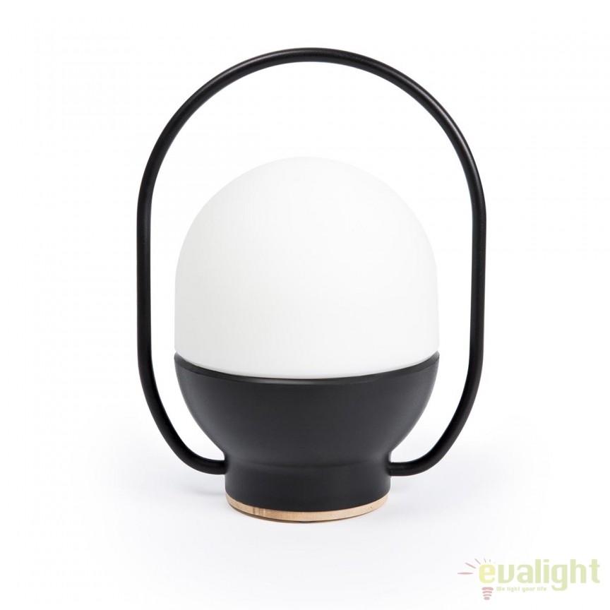 Lampa LED portabila design funny TAKE AWAY Black 01016 Faro Barcelona, Lampi de exterior portabile , Corpuri de iluminat, lustre, aplice, veioze, lampadare, plafoniere. Mobilier si decoratiuni, oglinzi, scaune, fotolii. Oferte speciale iluminat interior si exterior. Livram in toata tara.  a