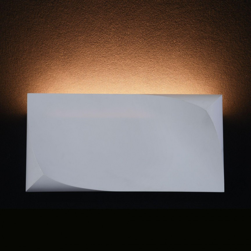 Aplica din ipsos, lumina ambientala LED Pero, 12x24cm MYC198-WL-01-6W-W, Aplice de perete LED, Corpuri de iluminat, lustre, aplice, veioze, lampadare, plafoniere. Mobilier si decoratiuni, oglinzi, scaune, fotolii. Oferte speciale iluminat interior si exterior. Livram in toata tara.  a