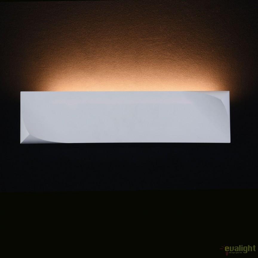 Aplica din ipsos, lumina ambientala LED Pero, 12x48cm MYC198-WL-01-12W-W, Aplice de perete LED, moderne⭐ modele potrivite pentru dormitor,living,baie,hol,bucatarie.✅Design premium actual Top 2020!❤️Promotii lampi❗ ➽ www.evalight.ro. Alege oferte la corpuri de iluminat cu LED pt tavan interior, (becuri cu leduri si module LED integrate cu lumina calda, naturala sau rece), ieftine si de lux, calitate deosebita la cel mai bun pret.  a
