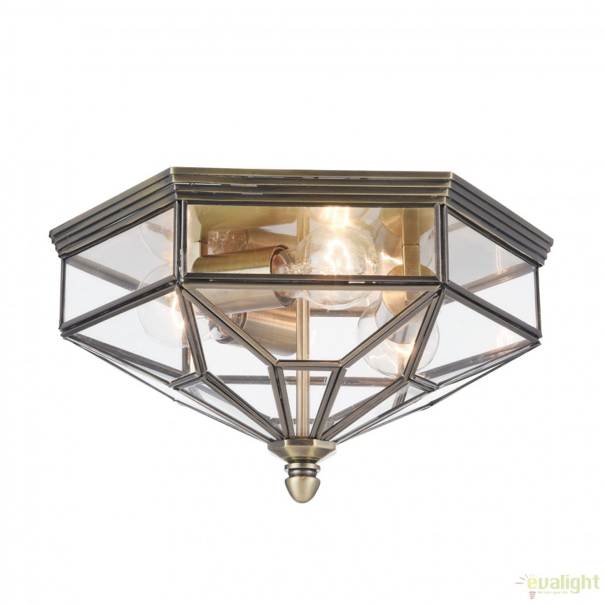 Plafoniera clasica Zeil, bronz MYH356-CL-03-BZ, Plafoniere, Spots, Corpuri de iluminat, lustre, aplice, veioze, lampadare, plafoniere. Mobilier si decoratiuni, oglinzi, scaune, fotolii. Oferte speciale iluminat interior si exterior. Livram in toata tara.  a