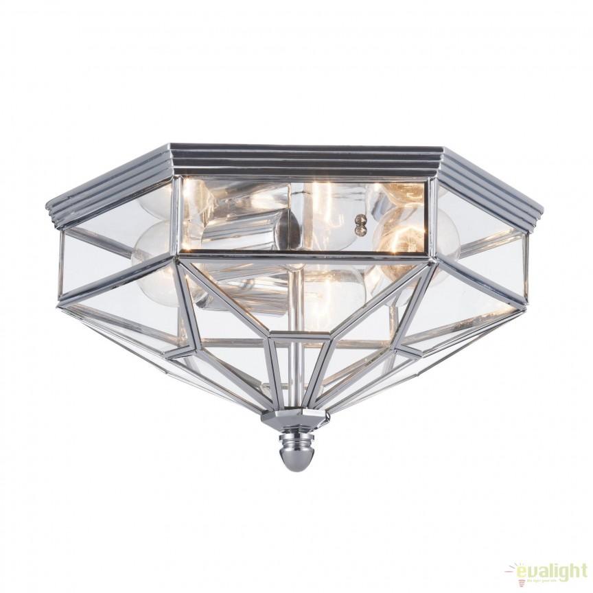 Plafoniera clasica Zeil, crom MYH356-CL-03-CH, Plafoniere, Spots, Corpuri de iluminat, lustre, aplice, veioze, lampadare, plafoniere. Mobilier si decoratiuni, oglinzi, scaune, fotolii. Oferte speciale iluminat interior si exterior. Livram in toata tara.  a