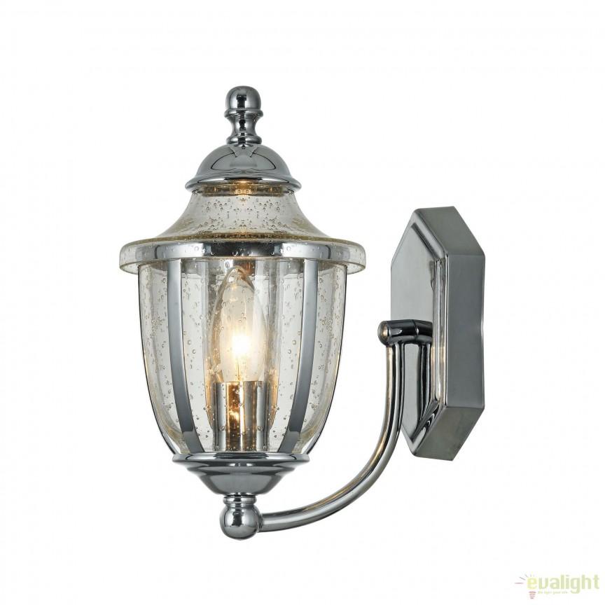 Aplica clasica Zeil, crom MYH356-WL-01-CH, Aplice de perete, Corpuri de iluminat, lustre, aplice, veioze, lampadare, plafoniere. Mobilier si decoratiuni, oglinzi, scaune, fotolii. Oferte speciale iluminat interior si exterior. Livram in toata tara.  a