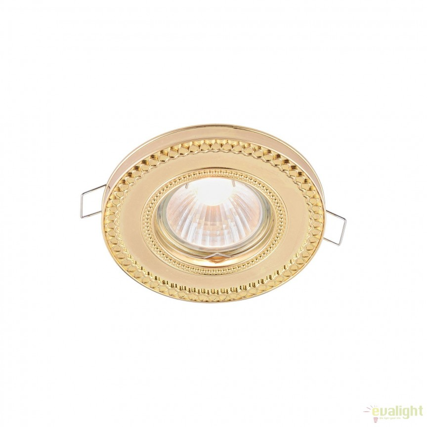 Spot incastrabil pentru tavan fals, Metal auriu MYDL302-2-01-G , Spoturi incastrate tavan / perete, LED⭐ modele moderne pentru baie, living, dormitor, bucatarie, hol.✅Design decorativ 2021!❤️Promotii lampi❗ ➽ www.evalight.ro. Alege oferte la colectile NOI de corpuri de iluminat interior de tip spot-uri incastrabile cu LED, cu lumina calda, alba rece sau neutra, montare in tavanul fals rigips, mobila, pardoseala, beton, ieftine de calitate la cel mai bun pret. a