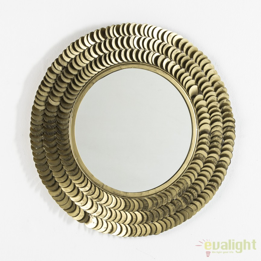 Oglinda decorativa Efrosyni Metal Golden diametru:65cm 31543/00 TN, Oglinzi decorative,  a