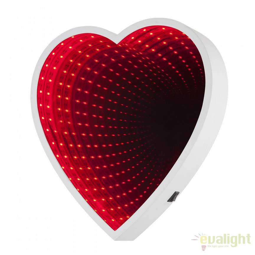 Oglinda decorativa cu iluminat LED efect tunel infinit ROMANCE 84024 GL, Corpuri de iluminat, lustre, aplice, veioze, lampadare, plafoniere. Mobilier si decoratiuni, oglinzi, scaune, fotolii. Oferte speciale iluminat interior si exterior. Livram in toata tara.